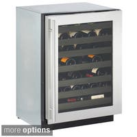 "U-Line U-3024WCS-00 24"" 3000 SERIES CONVECTION COOL WINE CELLAR STAINLESS RHH - STAINLESS STEEL"