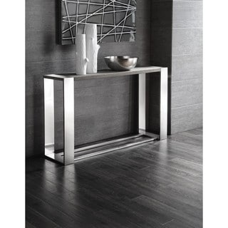Shop Devin 47 Inch Metal And Glass Console Table
