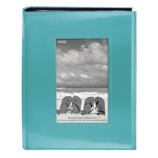 Pioneer Photo Albums 200-pocket Sewn Bright Blue Leatherette Frame Cover Album (2 Pack)