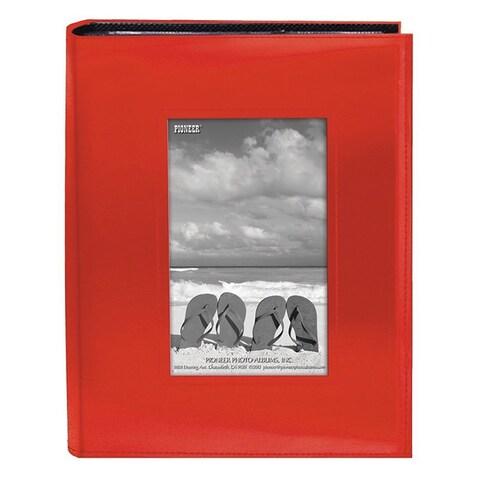 Pioneer Photo Albums 200-pocket Bright Orange Leatherette Frame Cover Album (2 Pack)
