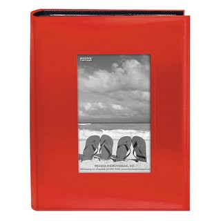 Pioneer Photo Albums 200-pocket Bright Orange Leatherette Frame Cover Album (2 Pack)