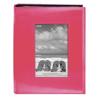 Pioneer Photo Albums 200-pocket Bright Pink Leatherette Frame Cover Album (2 Pack)