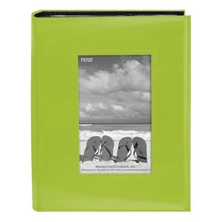 Pioneer Photo Albums 200-pocket Bright Green Leatherette Frame Cover Album (2 Pack)