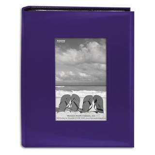 Pioneer Photo Albums 200-pocket Sewn Bright Purple Leatherette Frame Cover Album (2 Pack)