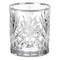 Lorren Home Trends Reagan Collection Crystal Double Old Fashion Beverage Glasses (Set of 4)