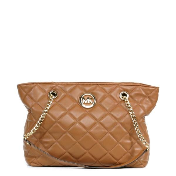 Michael Kors Fulton Quilt Large East/West Walnut Tote