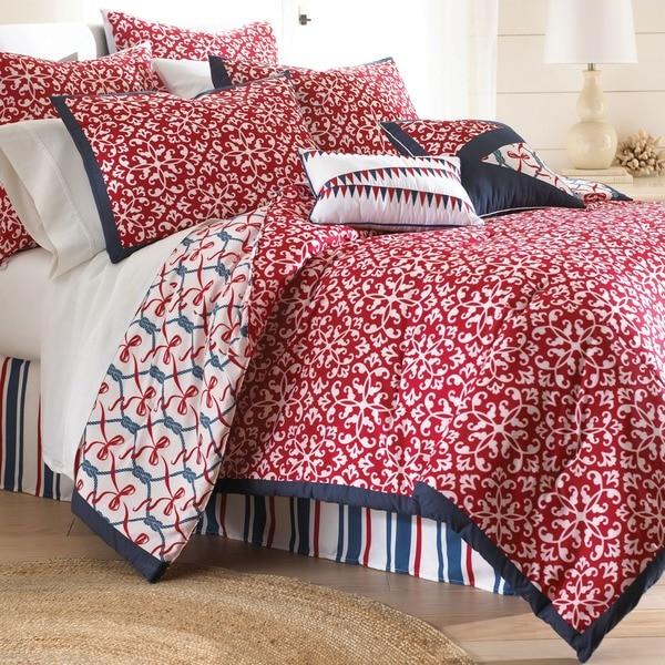 Amraupur Overseas Red/White/Blue Nautical Print 8-piece Comforter Set