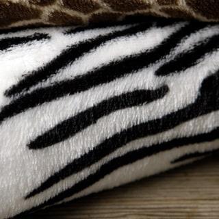 Expressions Animal Print Fleece Throw