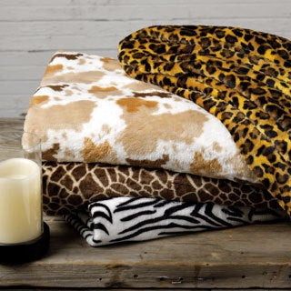 Expressions Animal Print Fleece Throw