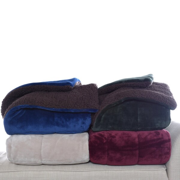 Eddie Bauer Premium Fleece Reversible Sherpa Throws