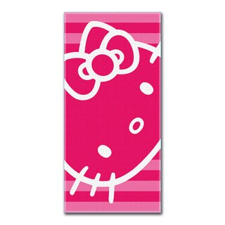 Hello Kitty Hot Pink Face Beach Towel
