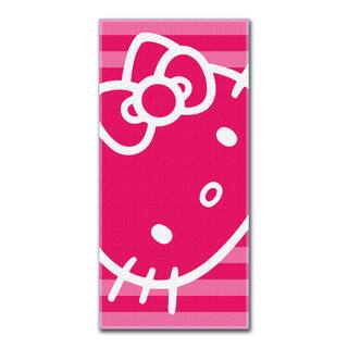 Hello Kitty Hot Pink Face Beach Towel|https://ak1.ostkcdn.com/images/products/9207266/P16378012.jpg?impolicy=medium