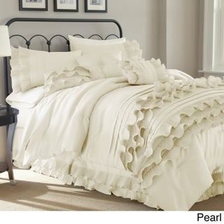 Amrapur Overseas Anastacia 8-piece Embellished Comforter Set (Option: King - Pearl White)