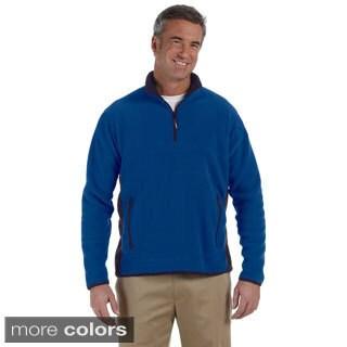 Men's Polartec Colorblock Quarter-zip Fleece Jacket