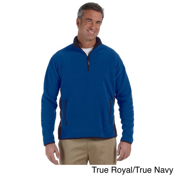 Mens Polartec Colorblock Quarter-zip Fleece Jacket