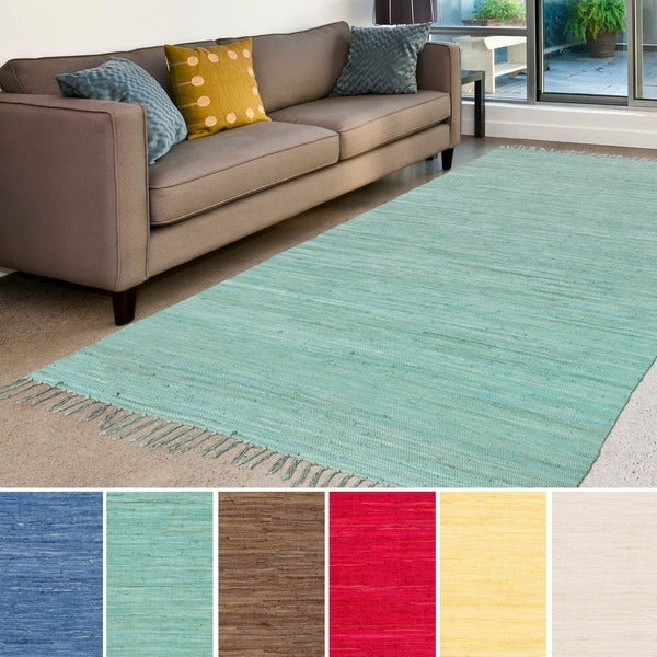"""Hand-Woven Mia Solid Cotton Rug (3'6"""" x 5'6"""") - 3'6 x 5'6"""