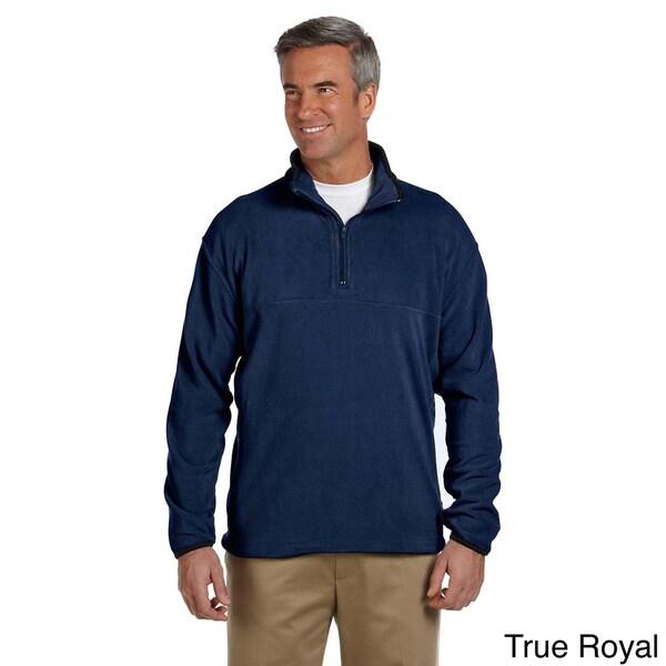 Mens Microfleece Quarter-zip Pull-over Sweater