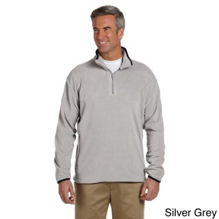 Men's Microfleece Quarter-zip Pull-over Sweater (Option: 4XL,silver grey)
