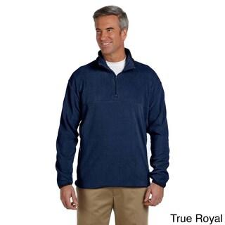 Men's Microfleece Quarter-zip Pull-over Sweater