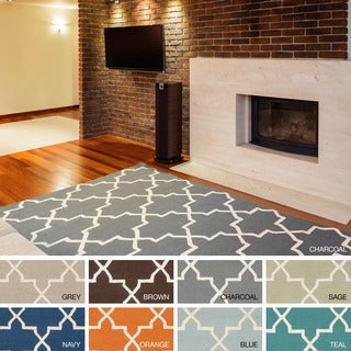 Hand-Tufted Peta Moroccan Tiled Wool Rug (4' x 6')