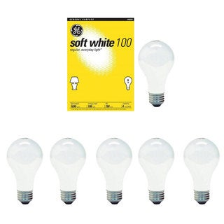 GE 41036 100-Watt A19 Soft White Light Bulbs (Set of 6)
