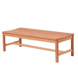 Eco-friendly 5-foot Wood Backless Garden Bench