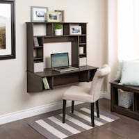 Shop Floating Desk with Storage - Free Shipping Today - Overstock ...