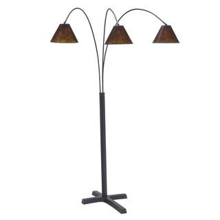 Signature Designs by Ashley Sharde Matte Black 3-light Metal Arc Lamp