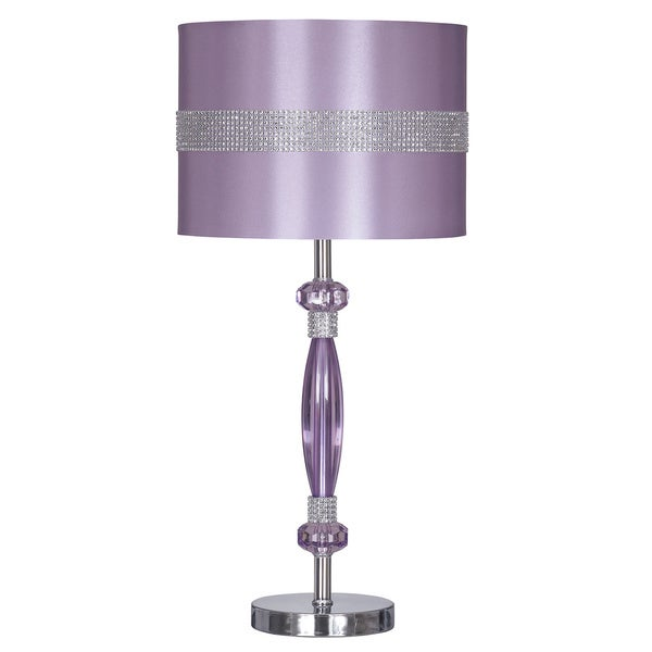 Signature designs by ashley nyssa purple metal table lamp for Home design zymeth aluminum table lamp