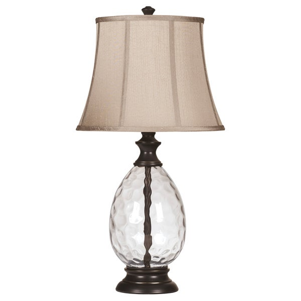 Olivia Bronze 29 Inch Glass Table Lamps - Set of 2
