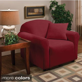 Sanctuary Stretch Coral Microfleece Chair Slipcover