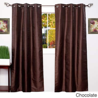 Thermal Blackout Grommet Top Curtain Panel Pair - 84 inch x 38 inch - 84 inch x 38 inch