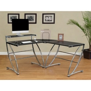 Calico Designs Leather-top Executive Left-side Desk