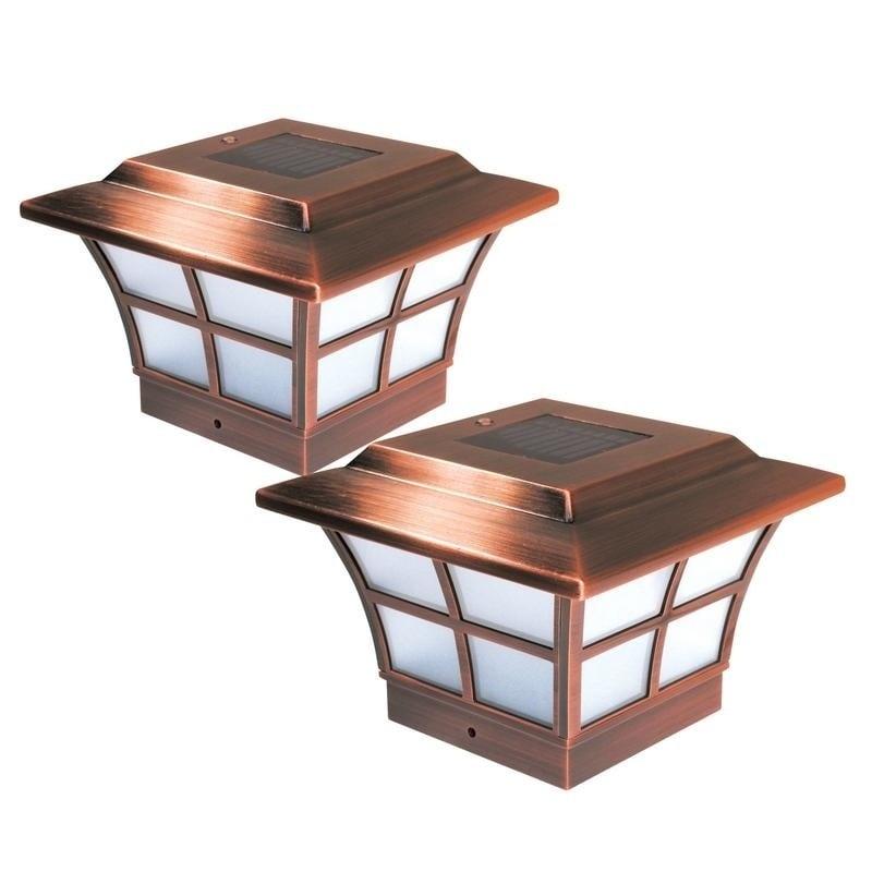 MFG 4x4 Copper (Brown) Plated Prestige Solar Post Cap (Se...