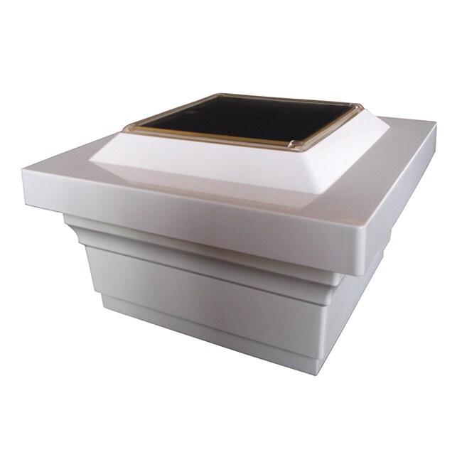 MFG 5x5 PVC Majestic Solar Post Cap (Set of 2) (White) (P...