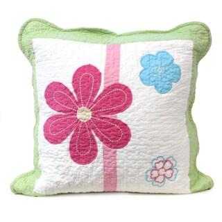 Spring Fling Flower 16-inch Decorative Throw Pillow