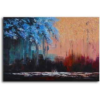 Link to Hand-painted 'Transposing Seasons' Oil Painting on Canvas Similar Items in Canvas Art