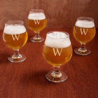 Personalized Belgian Beer Glasses (Set of 4) (More options available)