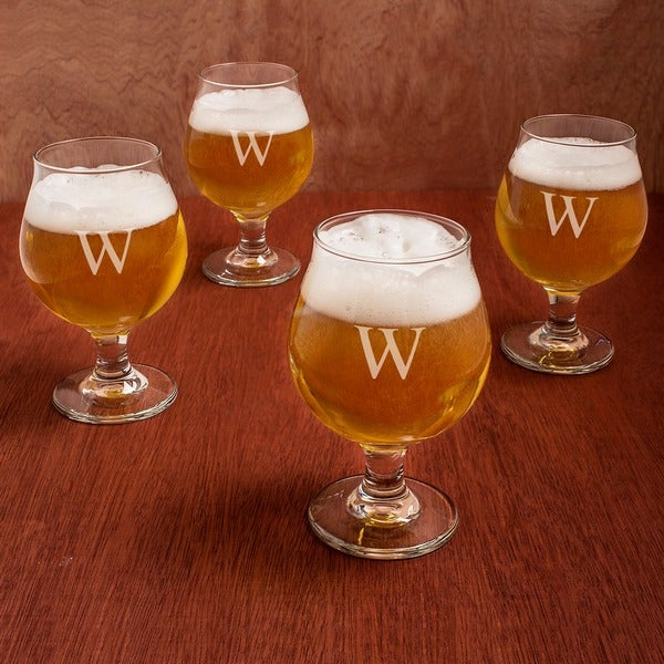 Shop Personalized Belgian Beer Glasses (Set of 4) - Free ...