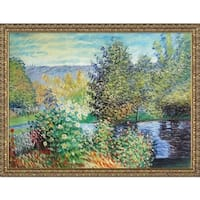 Claude Monet 'Corner of the Garden' Hand Painted Oil Reproduction