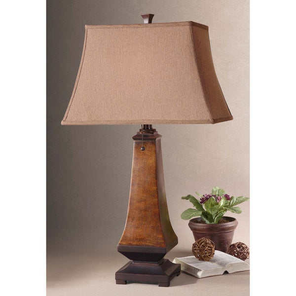 Uttermost Caldaro Mottled Brown and Oil-rubbed Bronze Table Lamp