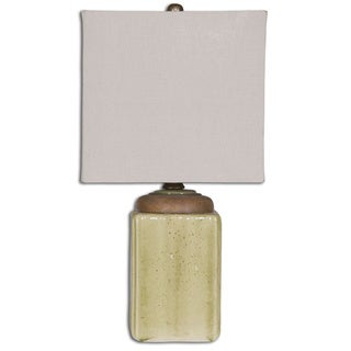 Uttermost Kildare Pale Green Ceramic and Wood 1-light Table Lamp