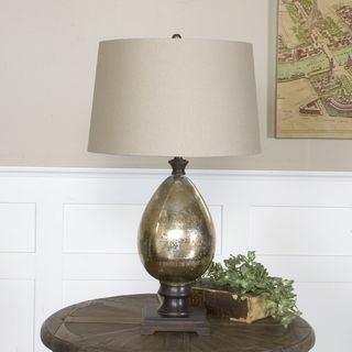 Uttermost Boulangerie Glass and Wood Table Lamp