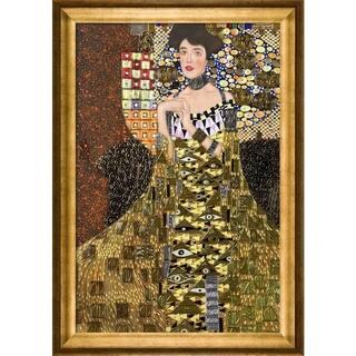 Gustav Klimt 'Portrait of Adele Bloch Bauer I (Luxury Line)' Hand-painted Framed Canvas Art|https://ak1.ostkcdn.com/images/products/9207733/P16378448.jpg?impolicy=medium