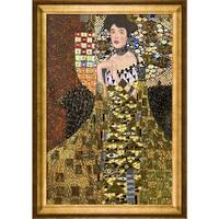 Gustav Klimt 'Portrait of Adele Bloch Bauer I (Luxury Line)' Hand-painted Framed Canvas Art