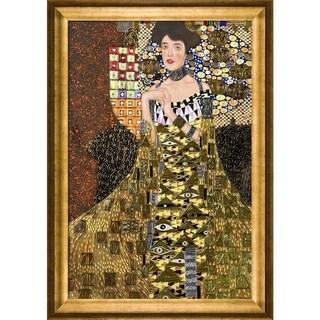 Gustav Klimt 'Portrait of Adele Bloch Bauer I (Luxury Line)' Hand-painted Framed Canvas Art