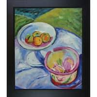 Alfred Henry Maurer Still Life' Hand-painted Framed Canvas Art