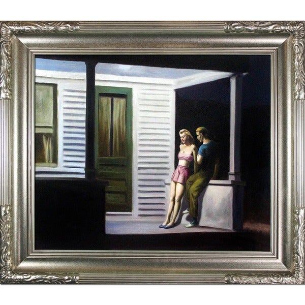 Edward Hopper Summer Evening Hand Painted Framed Canvas