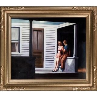 Edward Hopper 'Summer Evening' Hand-painted Framed Canvas Art