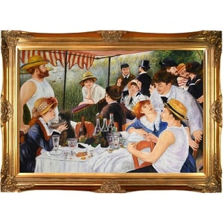 Pierre Auguste Renoir 'Luncheon of The Boating Party' Hand-painted Framed Canvas Art